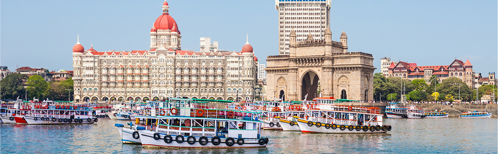 A view of Mumbai over the river