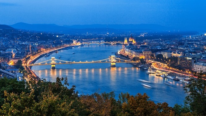 The Danube rive -flowing through Budapest