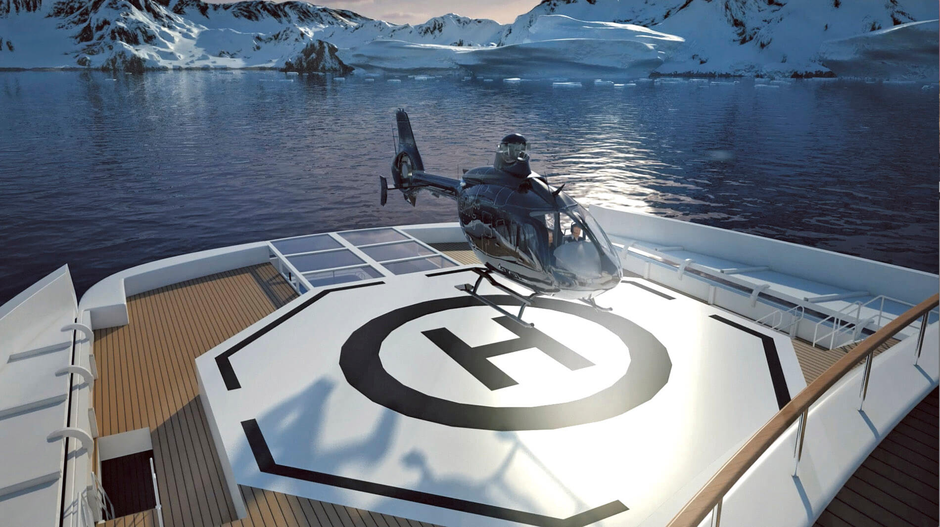 Scenic Eclipse Helicopter